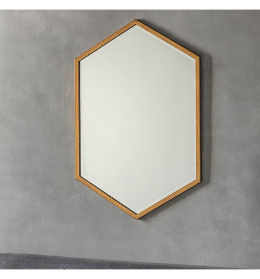 Helston Hexagon Shape Antique Gold Wall Mirror