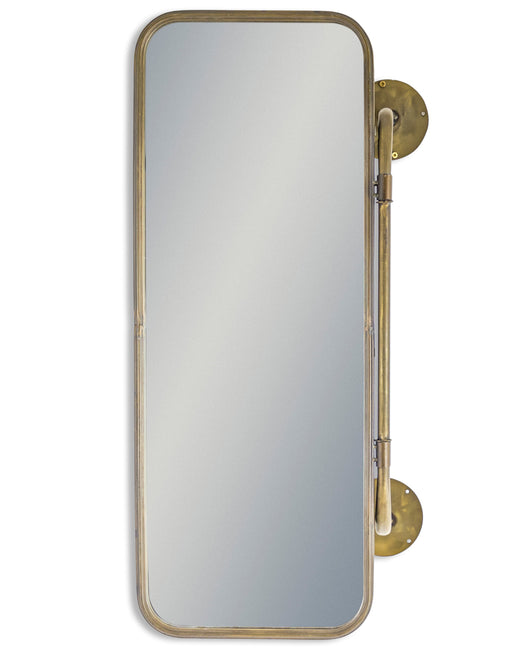 Gold Industrial Style Hinged Storage Wall Mirror