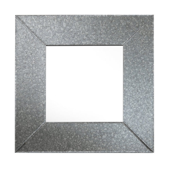 Italo Antique Silver Square Wall Mirror