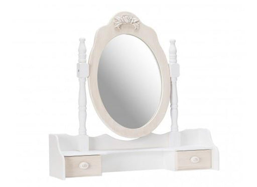 Juliette Cream Dressing Table Mirror-Dressing Table Mirror-Chic Concept
