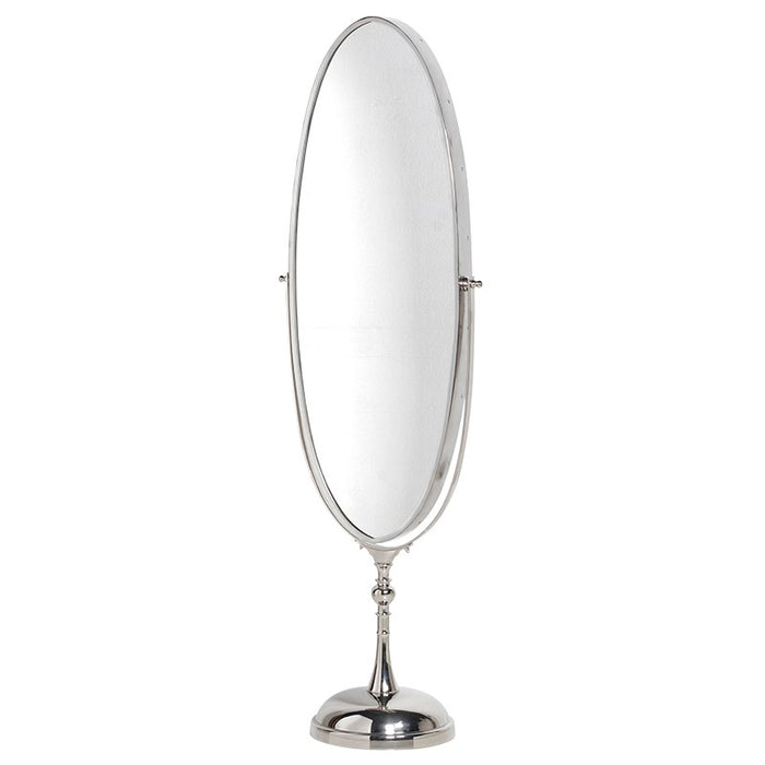 Steel Swivel Oval Floor Standing Mirror
