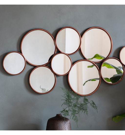 Contemporary Kempsford Copper Wall Mirror