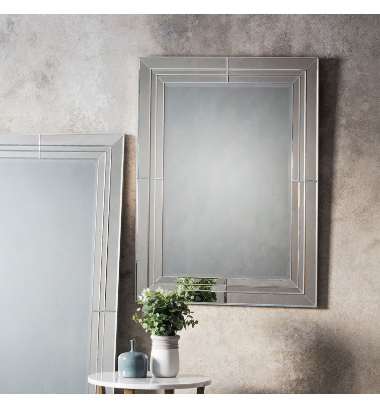 Knapton Glass Frame Rectangular Wall Mirror