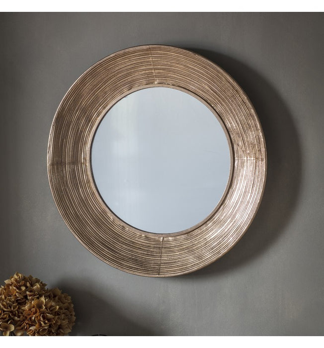 Knowles Gold Round Wall Mirror