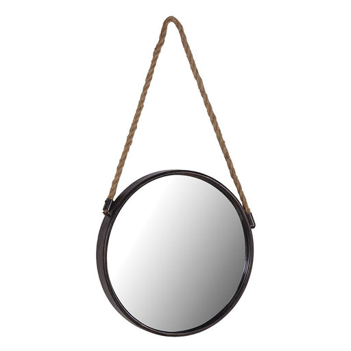 Round Ship's Mirror with Rope