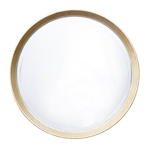 Lana Antique Brass Round Wall Mirror
