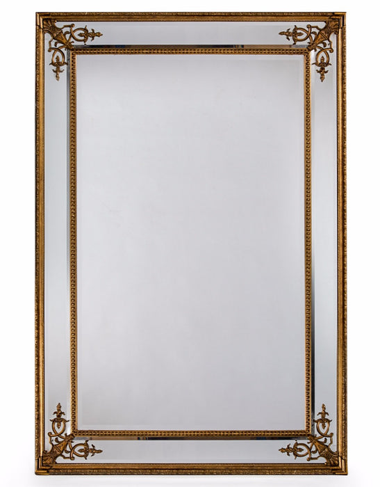 Gold French Frame Rectangular Wall Mirror - 192 cm x 134 cm