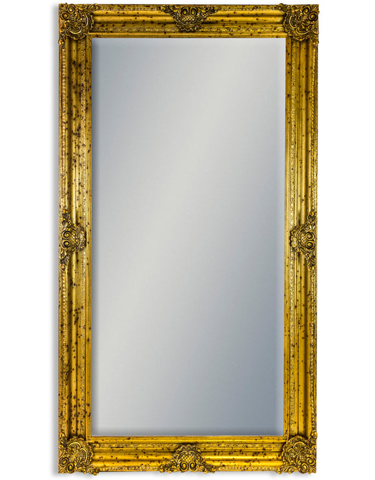 Large Gold Ornate Rectangular Wall Mirror -210 cm x 117 cm
