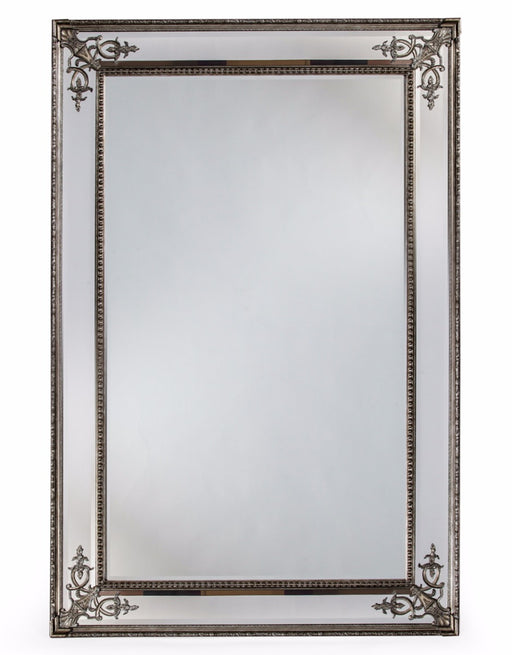 Large Silver Decorative French Rectangular Wall Mirror - 192 cm x 134 cm