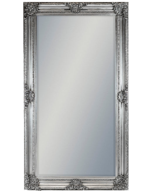 Large Antique Silver Rectangular Classic Mirror - 210 cm x 117 cm