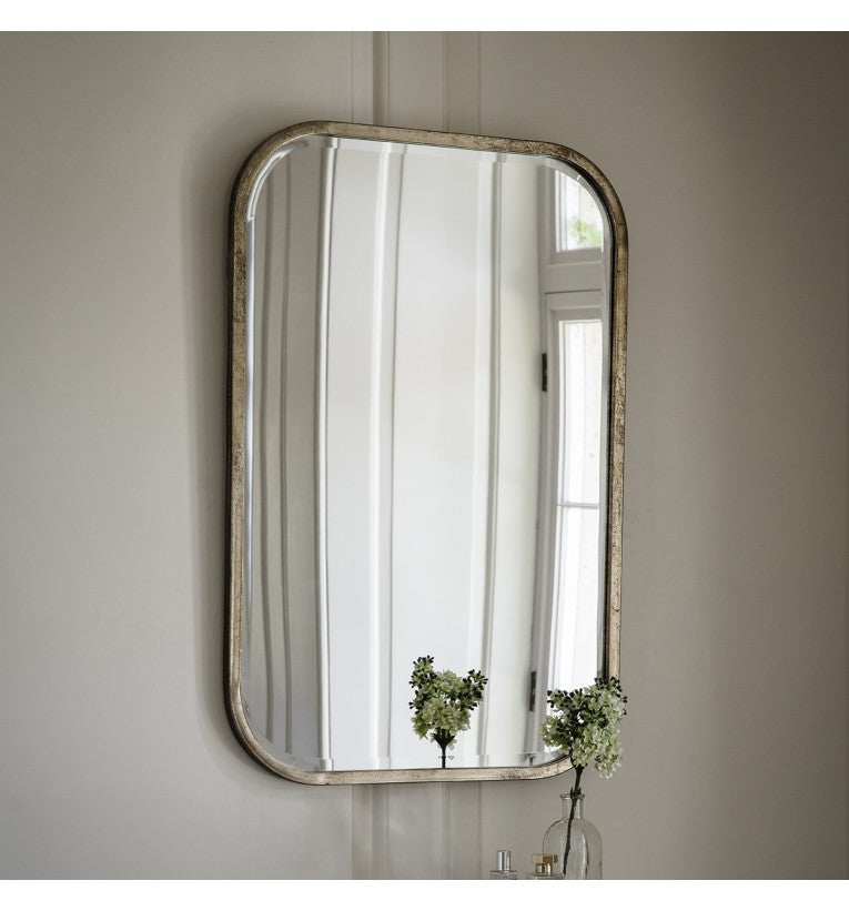 Logan Silver Rectangular Wall Mirror
