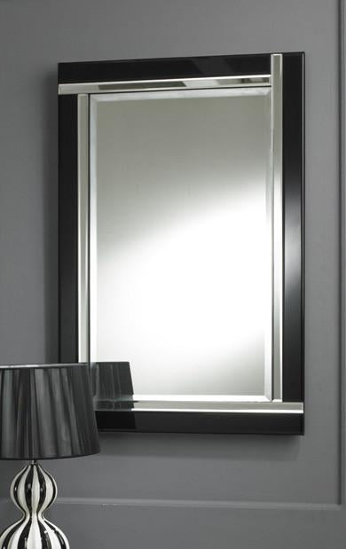 Modern Rectangular Black Strip Wall Mirror-Art Deco Mirror-Chic Concept