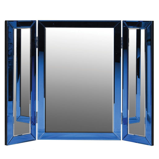 Modern Blue Glass Dressing Table Mirror