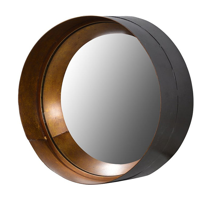 Modern Medium Cylinder Round Wall Mirror