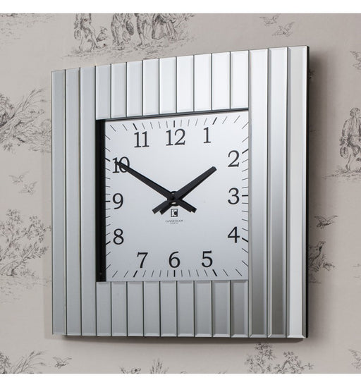 Metropolis Mirrored Square Wall Clock