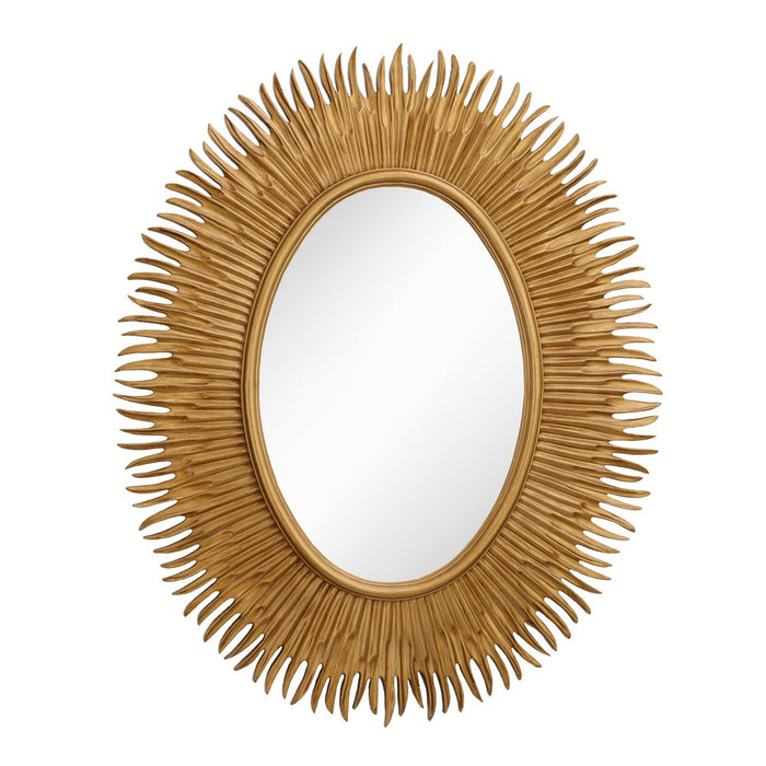 Moher Gold Oval Wall Mirror