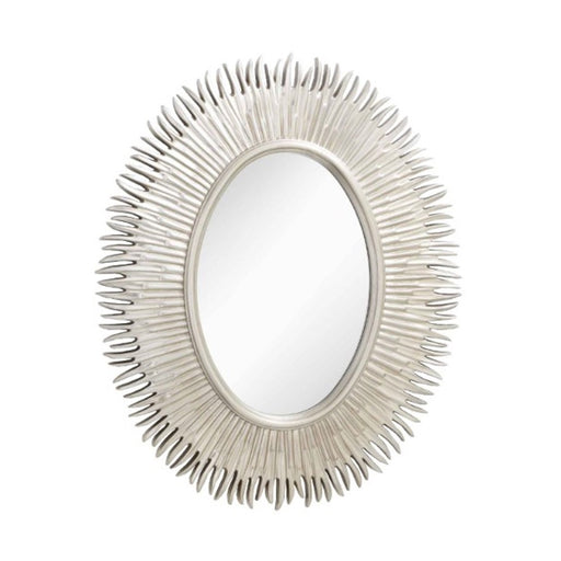Moher Silver Leaf Oval Wall Mirror