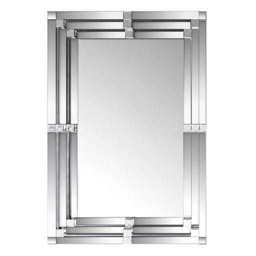 Modern Rectangular Orbit Bevelled Wall Mirror