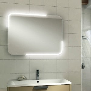 Orb LED Rectangular Bathroom Wall Mirror - 60 cm x 80 cm
