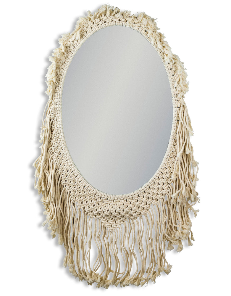 Contemporary Woven Oval Wall Mirror