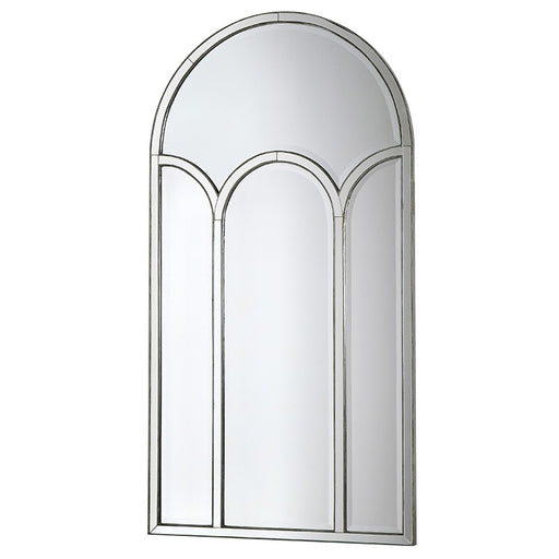 Modern Art Deco Bevelled Glass Arched Wall Mirror