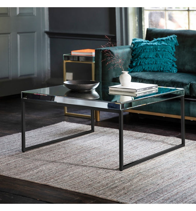 Black Pippard Mirrored Coffee Table