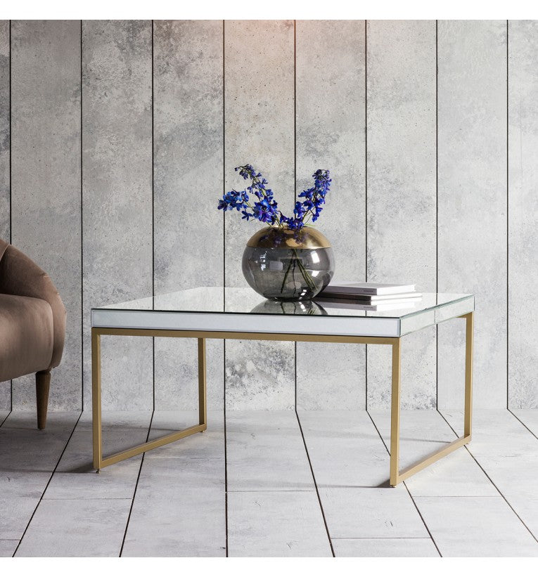 Pippard Champagne Mirrored Coffee Table