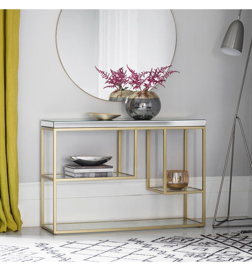 Champagne Pippard Mirrored Console Table