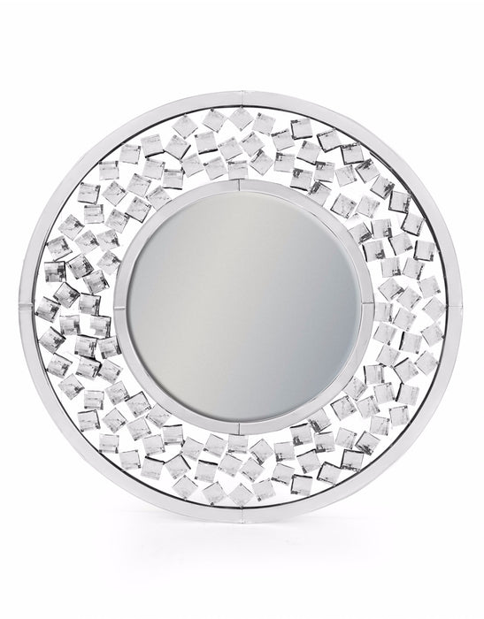 Round Large Diamond Venetian Wall Mirror