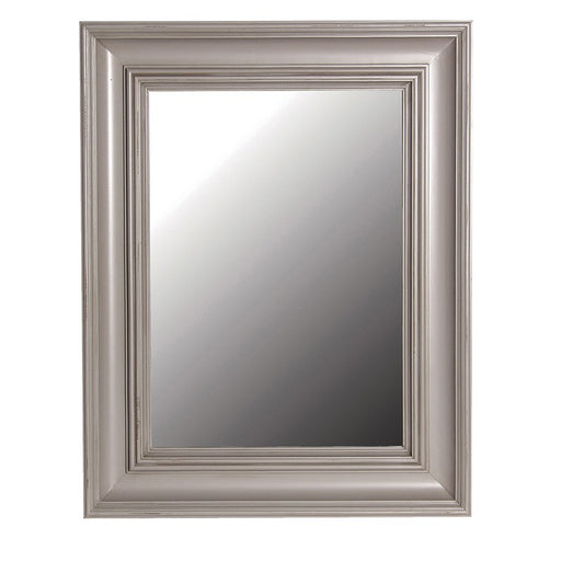 Distressed Grey Rectangular Wall Mirror