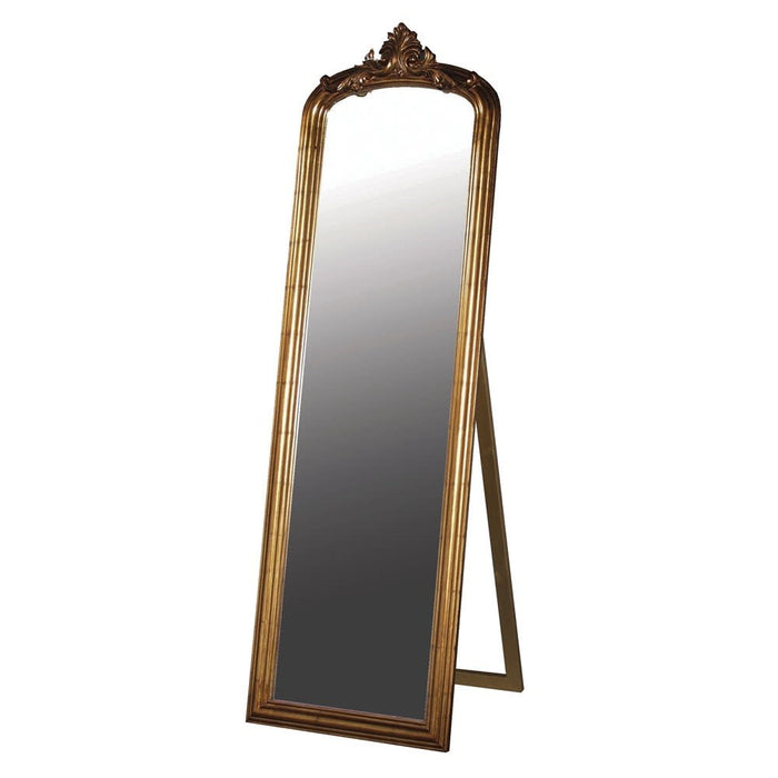 Antique Gold Floor Standing Dressing Mirror
