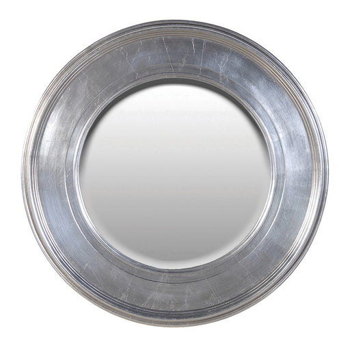 Round Silver Effect Wall Mirror