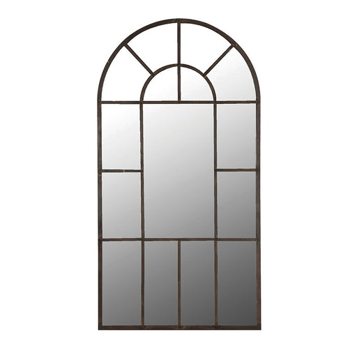 Extra Large Arched Windowpane Mirror