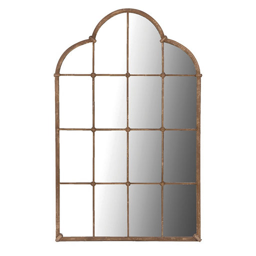 Large Lattice Window Panel Mirror
