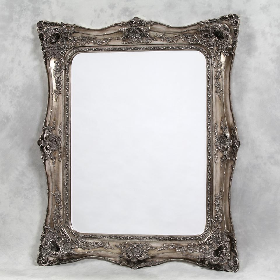 Silver Classic Square French Mirror-Ornate Mirror-Chic Concept