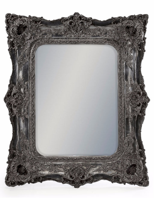 Antique Silver French Rectangular Wall Mirror - 125 cm x 85 cm