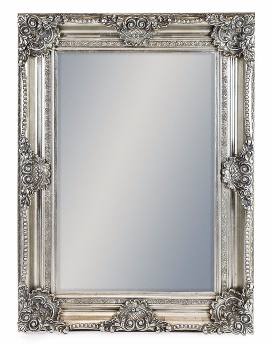 Antique Silver Rectangular Wall Mirror - 120 cm x 90 cm