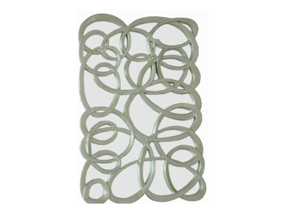Swirl Silver Front Wall Mirror