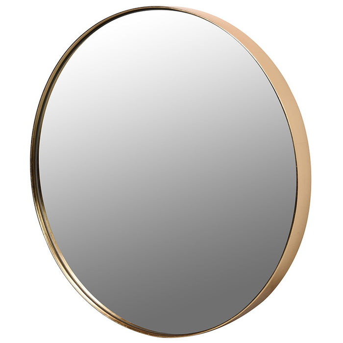 Gold Rim Round Wall Mirror
