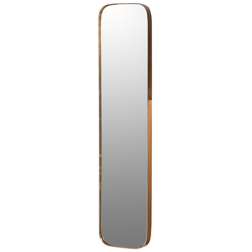 Curve Edge Gold Frame Rectangular Mirror