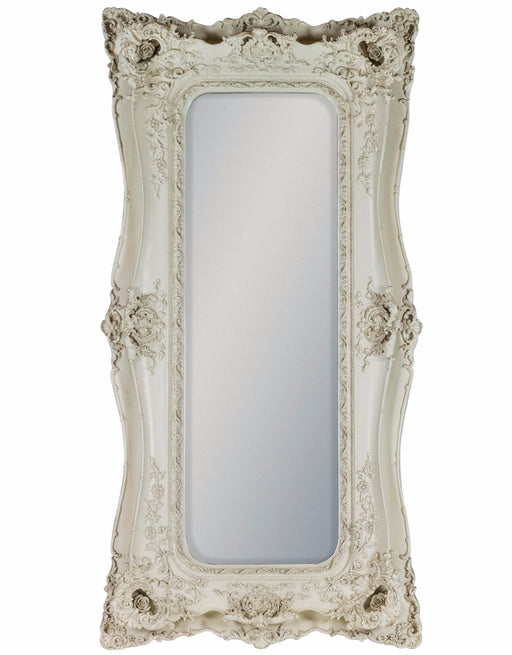 Tall Antique Cream/White Classic Ornate Mirror