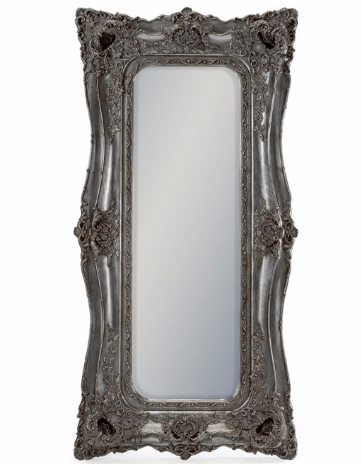 Tall Antique Silver French Rectangular Wall Mirror - 180 cm x 90 cm