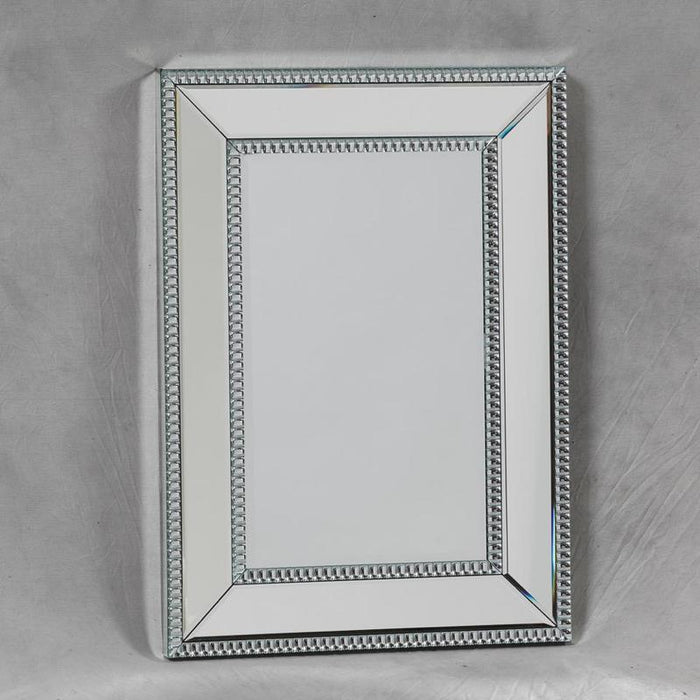 Small Venetian Pearled Style Edge 'Mayfair' Glass Wall Mirror-Wall Mirror-Chic Concept