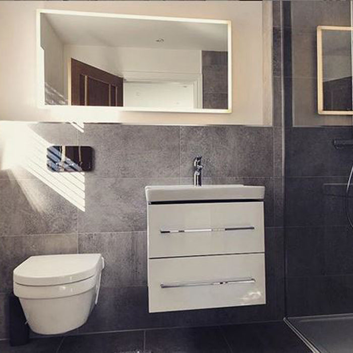 Vega LED Rectangular Bathroom Wall Mirror - 60 cm x 120 cm