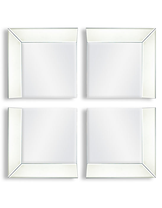 Modern Venetian 4 Corner Piece Glass Framed Wall Mounting Mirror Set