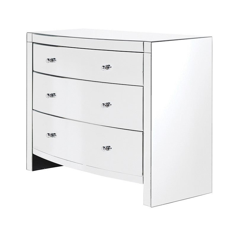 Venetian Mirrored Curved 3 Drawer Chest