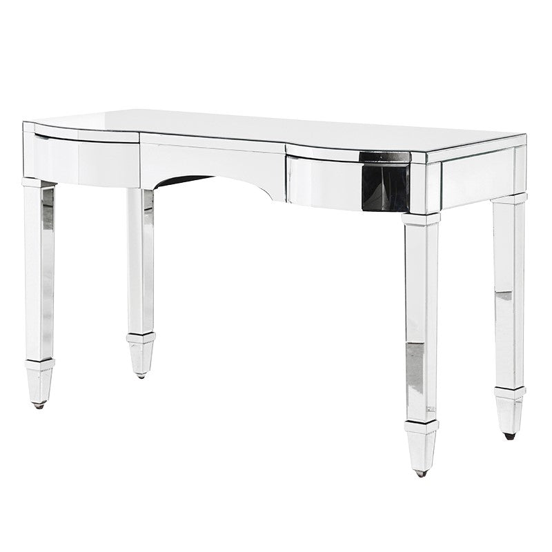 Venetian Curved Mirrored Dressing Table