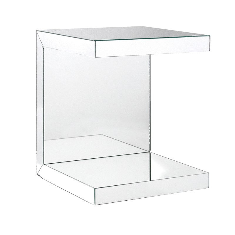 Venetian Mirrored Small End Table