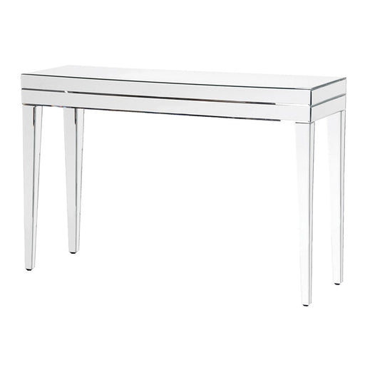 Mirrored Venetian Tapered Leg Console Table