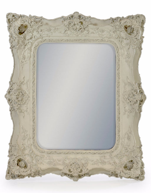 White Classic French Ornate Rectangular Wall Mirror